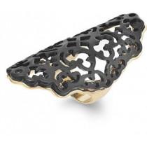 Bar III Gold-Tone Jet Lace Filigree Ring