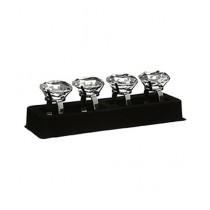 Premier Home Clear Diamante Napkin Rings Set of 4 (1403755)