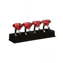 Premier Home Red Diamante Napkin Rings Set of 4 (1403756)