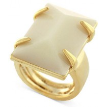Vince Camuto Gold Tone Large Rectangular Stone Ring