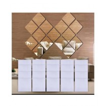 1link Pk Acrylic Wall Mirror Stickers For Decoration 15 Pieces