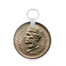 The Warehouse 1Rs Coin Art Printed Key Chain (KC-168)