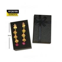 Kayazar Indian Layer Jhumki Multi Stone 1 Pink (9126195)