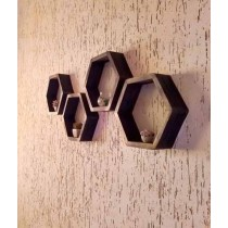 Shamima Crafts Wall Shelves Frame Brown Pack of 4