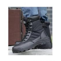 The Smart Shop Combat High Ankle Boots Black (0993)