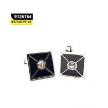 Kayazar Fashion Men's Cufflink Silver Black Cross Crystal (9126764)