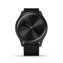 Garmin Vivomove Style Graphite Aluminum Case Activity Tracking Watch Black Pepper With Woven Nylon Band