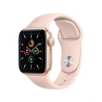 Apple iWatch SE 44mm Gold Aluminum Case With Pink Sport Band - GPS