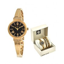 Anne Klein Women's Watch Gold-Tone & Bracelets Two-Tone (AK/3414BKST)
