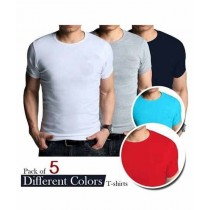 Casual Store Round Neck T-Shirts - Pack Of 5
