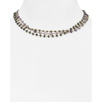 Ela Rae Liana Triple Strand Iolite Necklace