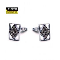 Kayazar Modern Men's Cufflinks Silver Hollow Diamond (9126780)