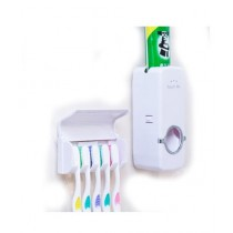 HR Traders Toothpaste Dispenser With Tooth Brush Holder