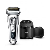 Braun Series 9 Wet & Dry Shaver With Clean & Charge Station And Leather Travel Case (9390cc)