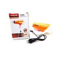 Nova Foldable Hair Dryer 1000W Orange (NV-1280)