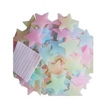 Sasti Market Glowing Stars Wall Stickers - 100 PCS