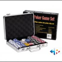 HR Business Pokar Chips Suitcase Matt Aluminum With 200 Pokar Chips