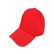A & S Plain Cotton Cap For Men Red