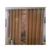 A One Curtains Jacquard 2 Pcs Brown