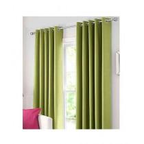 A One Curtains Silk Satin 2 Pcs Green
