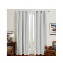 A One Curtains Silk Satin 2 Pcs Off White