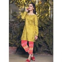 A.A Clothes Embroidered Linen Dress For Women 2 Piece (D-21193)