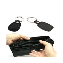 Afreeto Leather Wallet With 2 Key Chains Black