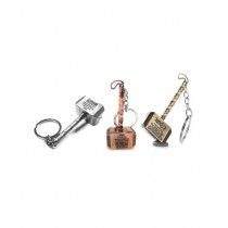 Afreeto Thor Hammer Key Chains Pack Of 3