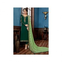 Aj Dukan Embroidered Satin Dress For Women (0211)