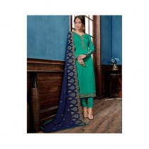Aj Dukan Embroidered Satin Dress For Women (0215)