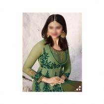 Aj Dukan Embroidered Silk Maxi Dress For Women (0206)