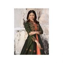 Aj Dukan Embroidered Silk Maxi Dress For Women (0207)