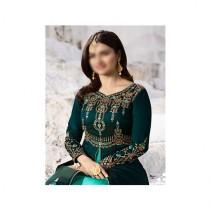Aj Dukan Embroidered Silk Maxi Dress For Women (0210)