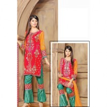 Aj Dukan Embroidered Lawn Collection 3 Piece (0074)