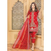 Aj Dukan Embroidered Lawn Collection 3 Piece (0075)