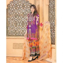 Aj Dukan Embroidered Lawn Collection 3 Piece (0076)