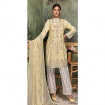 Aj Dukan Embroidered Swiss Lawn Collection 2019 3 Piece (0066)