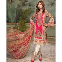 Aj Dukan Embroidered Swiss Lawn Collection 2019 3 Piece (0069)
