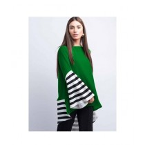 Aj Dukan Independence Day Frock For Women Green