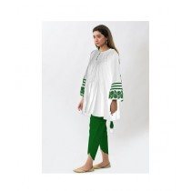 Aj Dukan Independence Day Kurti For Women White