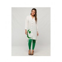Aj Dukan Independence Day Kurti For Women White (0093)