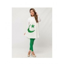 Aj Dukan Independence Day Net Sleeves Shirt For Women