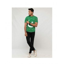 Aj Dukan Independence Day T-Shirt For Men Green