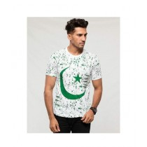 Aj Dukan Independence Day T-Shirt For Men White