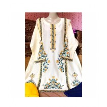 Aj Dukan Lawn Embroidered Shirt For Women (0096)
