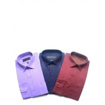 Smart Collection Casual Long Sleeves Dress Shirts For Men's Pack Of 3 (FWSMRNVPR001)