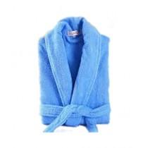 Al Hirah Hooded Bathrobe Blue