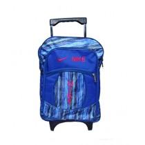 Al Haram Trolley School Bag For Boys Blue (1022)