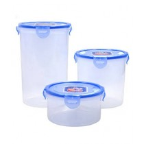 Aladdin Mall Plastic Jar Pack Of 3 - Blue