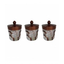 Aladdin Mall Transparent Glass Jar - Pack Of 3